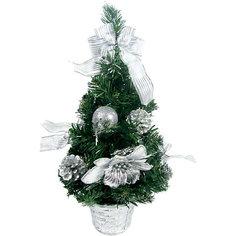 Елка декоративная с серебряными украшениями, 40 см Tukzar