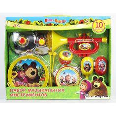 Набор музыкальных инструментов, 10 предметов, Маша и Медведь Играем вместе
