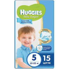 Подгузники Huggies Ultra Comfort 5 для мальчиков, 12-22 кг, 15 шт.