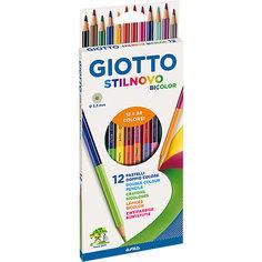Двухсторонние цветные карандаши, 12 штук, 24 цвета. Lyra