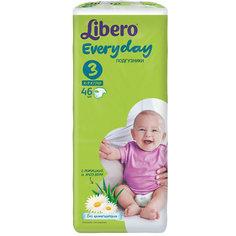 Подгузники Libero Everyday, Midi 4-9 кг (3), 46 шт., Econom