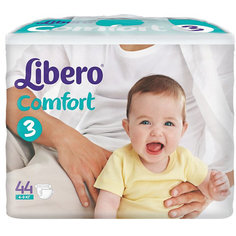 Подгузники Libero Comfort, Midi 4-9 кг (3), 44 шт.