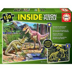 """Пазл с люминисцентным свечением в темноте """"Динозавры"""", 150 деталей, Educa"""