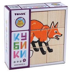 """Кубики """"Животные леса"""", 9 штук, Томик"""