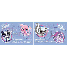 Альбом для рисования, 40 листов, Littlest Pet Shop Академия групп