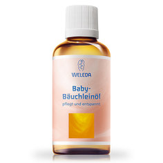 Масло для массажа животиков младенцев, 50 мл., Weleda