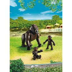 Зоопарк: Горилла со своими детенышами, PLAYMOBIL