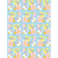 """Плед флисовый """"Котята и цыплята"""",100х140 см, Baby Nice, голубой"""