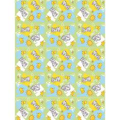 """Плед флисовый """"Котята и цыплята"""", 100х140 см, Baby Nice,  зеленый"""