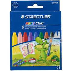 Мелки восковые NorisClub Jumbo, набор 8 цветов Staedtler