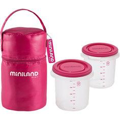 Термосумка с 2-мя мерными стаканчиками, HERMISIZED, розовый Miniland
