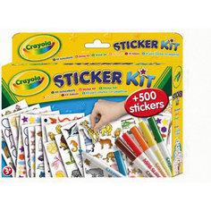 Набор стикеров 500 шт + 6 фломастеров, Crayola