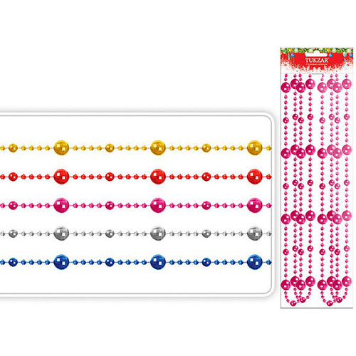 Бусы декоративные круглые, 2,7 м, d=14 мм, TUKZAR