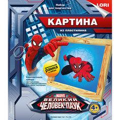 """Картина из пластилина """"Человек-паук"""", LORI"""