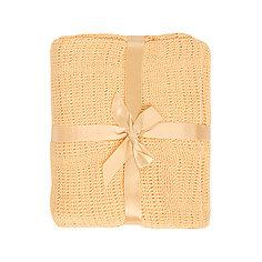 Одеяло детское вязанное 90х120 Baby Nice, желтый
