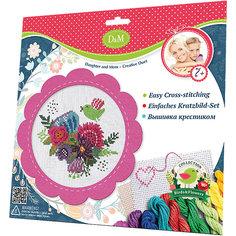 """Набор для вышивания крестиком """"Цветы и птицы"""", Делай с Мамой"""