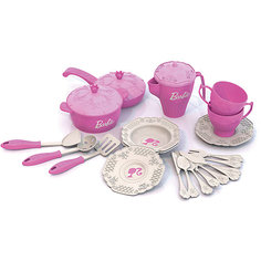 """Набор кухонной и чайной посудки """"Барби"""" (21 предмет), Нордпласт"""