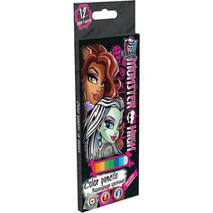 """Цветные карандаши """"Monster High"""" 12 шт Академия групп"""