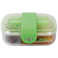 Контейнер для хранения с приборами, Munchkin, зеленый