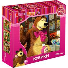 "Кубики ""Маша и Медведь"", 9 шт., Step puzzle Степ Пазл"