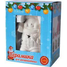 """Керамический LED-сувенир для раскрашивания """"Снеговик"""" или """"Дед Мороз"""" Tukzar"""