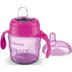 Чашка-поильник с носиком Comfort, 200 мл, Avent, сиреневый/розовый