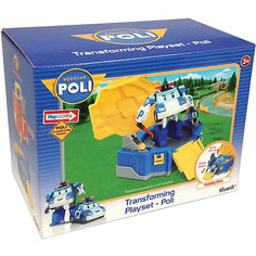 Кейс для трансформера Поли, 12 см, Робокар Поли Silverlit