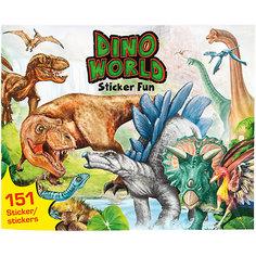 """Альбом с наклейками, """"Создай свой мир Динозавров"""", Creative Studio Depesche"""