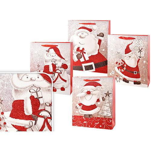 Пакет подарочный новогодний 32*26*10см, в ассортименте