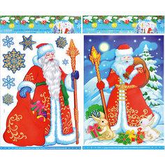 """Наклейка-панно 3D """"Дед Мороз"""", в ассортименте Tukzar"""