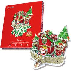 Сказочный рождественский замок, с подсветкой, CubicFun