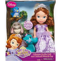 """Игровой набор """"София с 3 питомцами"""", 37 см, Принцессы Дисней Disney"""