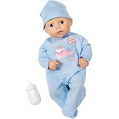 Кукла-мальчик с бутылочкой, 36 см, Baby Annabell Zapf Creation