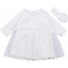 Комплект на выписку: платье и повязка на голову для девочки Soni Kids