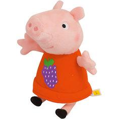 """Мягкая игрушка """"Пеппа с виноградом"""", 20 см, Свинка Пеппа Росмэн"""