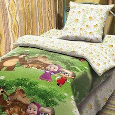 """Комплект """"Двое на одного"""" 1,5-спальный (наволочка 70*70), Маша и Медведь Непоседа"""