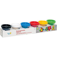 Тесто-пластилин, 6 цветов Genio Kids