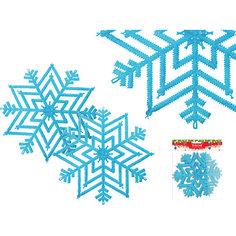 """Украшение """"Снежинка с блестками"""", диаметр 28 см Tukzar"""