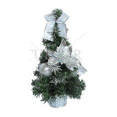 Декоративная елка с серебряными украшениями, 30 см Tukzar