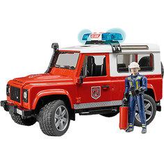 """Внедорожник с фигуркой """"Land Rover Defender Station Wagon"""", Bruder"""