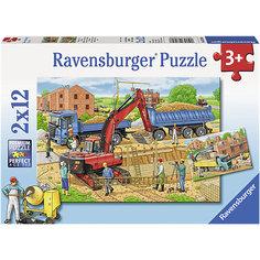 "RavensburgerПазл ""Стройка дома"", 2х12 деталей"
