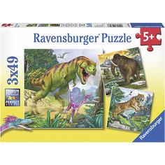 Пазл «Первобытные хищники», 3х49 деталей, Ravensburger