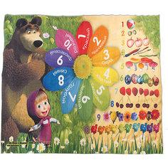 "Ковер ""Цифры и счет"" 133*195 см, Маша и Медведь Venera"