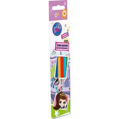 Цветные карандаши 6 шт, Littlest Pet Shop Академия групп