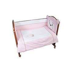 """Борт в кроватку """"Умка"""", Сонный гномик, розовый"""