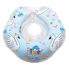 """Круг на шею Flipper Swan Lake Мusic для купания 0+ """"Лебединое озеро"""", Roxy-Kids, голубой"""