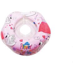 """Круг на шею Flipper Swan Lake Мusic для купания 0+ """"Лебединое озеро"""", Roxy-Kids, розовый"""
