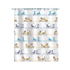 """Штора для ванной """"Кошки и собаки"""" 180*180 см Valiant"""