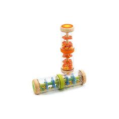 Погремушка «Шум дождя» оранжевая, DJECO