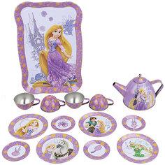 """Набор чайной посуды """"Рапунцель"""" (15 предм., металл.), Принцессы Дисней Disney"""